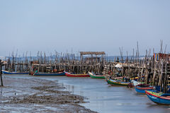 Village délabré très vieux de pêcheurs Image stock