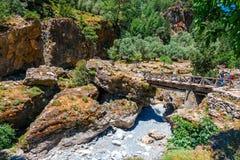 Village déplacé Samaria en Samaria Gorge en Crète centrale, Grèce photographie stock libre de droits