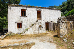 Village déplacé Samaria en Samaria Gorge, Crète photos stock