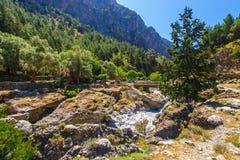 Village déplacé Samaria en Samaria Gorge, Grèce photo stock