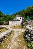 Village déplacé Samaria en Samaria Gorge, Grèce images libres de droits