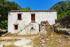 Village déplacé Samaria en Samaria Gorge, Grèce image libre de droits