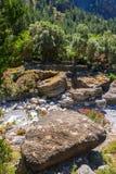 Village déplacé Samaria en Samaria Gorge, Grèce image stock