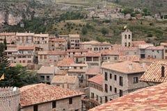 Village d'étreinte de Castellar de N à Barcelone Photos stock