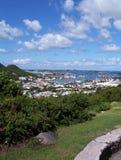 Village d'île des Caraïbes Images libres de droits