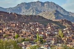Village d'Abyaneh, comté de Natanz, central Iran de province d'Isphahan photos stock