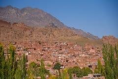Village d'Abyaneh dans la province d'Isphahan, Iran photos stock
