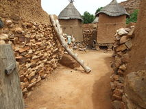Village d'Africain d'Adobe Photos libres de droits