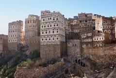 Village d'Al Hajjarah, Yémen Photo libre de droits