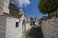 Village d'Alberobello Trulli Italie Photo stock
