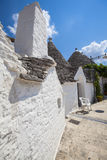 Village d'Alberobello Trulli Italie Photographie stock