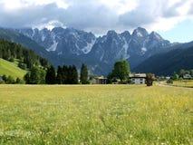 village d'alpes Photo stock