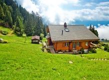 Village d'Alpes Photographie stock libre de droits