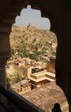Village d'Amer du palais ambre, Jaipur, Inde Photographie stock libre de droits
