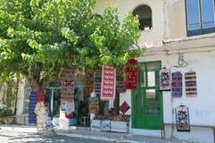 Village d'Anogia à l'île de Crète en Grèce Images libres de droits