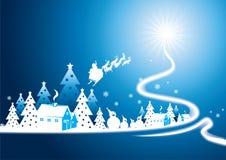 village d'arbre de Noël Photos libres de droits