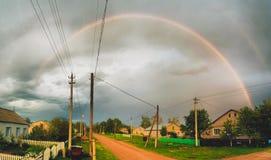 Village d'arc-en-ciel Photographie stock libre de droits
