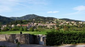 Village d'Ardeche en France Images stock