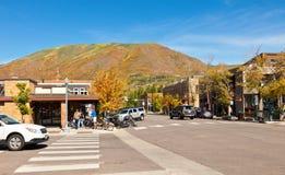 Village d'Aspen, le Colorado Image stock