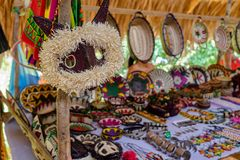 Village d'Embera, Chagres, Panama image stock