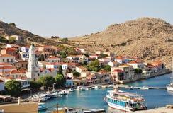 Village d'Emborio, Halki Image libre de droits