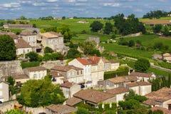 Village d'Emilion French de saint Images libres de droits