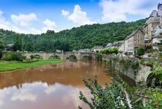 Village d'Estaing Photo stock