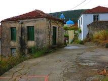 Village d'Exoghi, île d'Ithaca, Grèce photos libres de droits