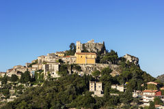Village d'Eze en France Photos libres de droits