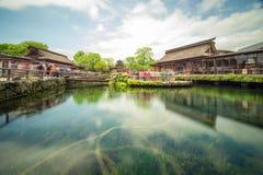 Village d'héritage d'Oshino Hakkai du mont Fuji image libre de droits