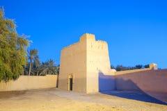 Village d'héritage du Foudjairah au crépuscule Images libres de droits