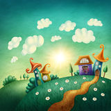 Village d'imagination illustration libre de droits