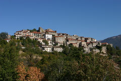 Village d'Italien de Moyens Âges Photographie stock libre de droits