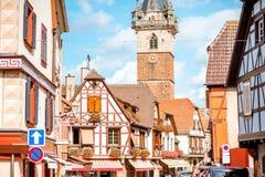 Village d'Obernai dans les Frances Image libre de droits