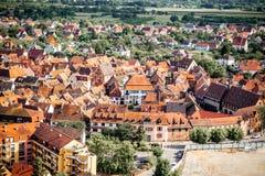 Village d'Obernai dans les Frances Image stock