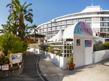 Village d'océan du Gibraltar, marina de port Photographie stock