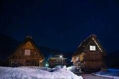Village d'Ogimachi dans Shirakawago images stock