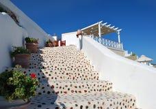 Village d'Oia d'escaliers Images libres de droits