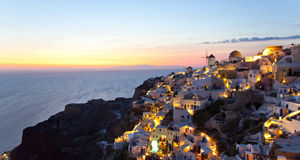 Village d'Oia en île de Santorini - Grèce Image libre de droits