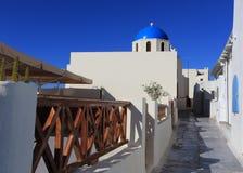 Village d'Oia (Ia) sur l'île de Santorini, Grèce Images libres de droits