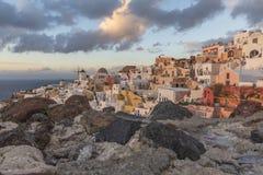 Village d'Oia, Santorini image stock