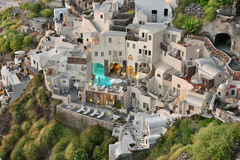 Village d'Oia, Santorini image libre de droits
