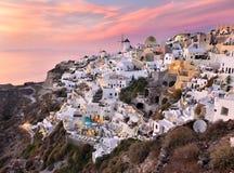 Village d'Oia, Santorini, Grèce photo libre de droits