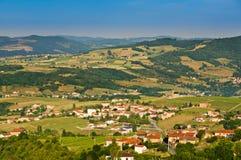 Village d'Oingt de Saint Laurent, Beaujolais, France Photo stock