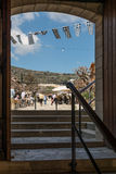 Village d'Omodos, Chypre Images stock