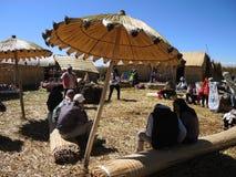 Village d'Uros dans Puno, Pérou Images libres de droits