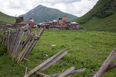 Village d'Ushguli dans Svaneti, la Géorgie Photo libre de droits
