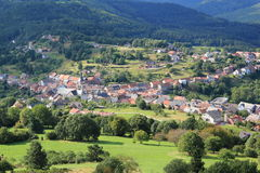 Village of Dabo in Lorraine Royalty Free Stock Photo