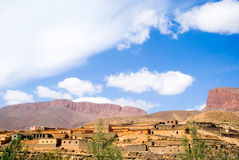 Village in dades gorge royalty free stock image