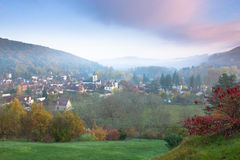 The Village of Daglan at sunrise stock photography